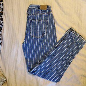 AEO pinstripe mom jeans